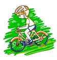Edit boy on a bicycle color drawing