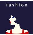 Fashion lady vector image