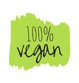 vegan eco bio organic green design template vector image