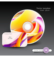 Cover design template of disk and business card vector image