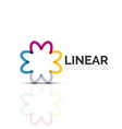 abstract flower or star linear thin line icon vector image vector image