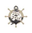 anchor vintage logo - nautical sailor sea ship vector image
