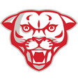 Angry Cougar Mountain Lion Head Retro vector image vector image