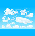 animal shaped cloud set vector image vector image