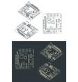 arduino romeo v2 blueprints vector image vector image