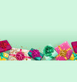 background with repeating gift boxes vector image vector image