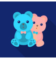 bears icon in flat style isolated on white vector image vector image