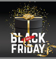 black friday sale banner black friday black gift vector image