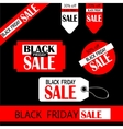 black friday sale tag design vector image vector image