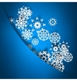 Blue christmas card with snowflakes EPS10 vector image vector image