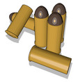 bullets on white background vector image vector image