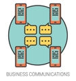 Business communications line icons vector image vector image