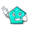 call me pentagon mascot cartoon style vector image vector image