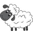 Cartoon sheep vector image
