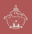 christmas cribe scene on ball vector image vector image