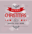 christmas greetings card design with pink vector image