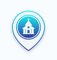 church catholic temple icon on mark vector image vector image