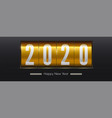 countdown to new year 2020 golden retro vector image vector image