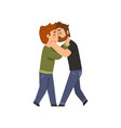 couple of gay men embracing and kissing lgbt men vector image vector image