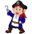 Cute pirate kid cartoon vector image vector image