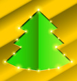 Cutout hole frame Christmas tree vector image vector image