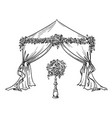 decorative tent for a party or wedding vector image vector image