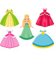 doll princess vector image vector image