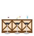 drinking establishment interior pub cafe or bar vector image vector image