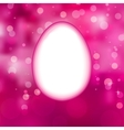 Easter eggs background with elegant bokeh EPS 10 vector image vector image
