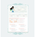 Fashion shopping Website template vector image