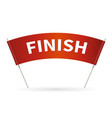 flag finish for race streamers finish in vector image vector image