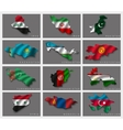 Flags in the form of states vector image vector image