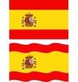 Flat and waving Spanish Flag vector image vector image