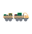 freight truck with trailer isolated icon vector image vector image