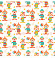 happy purim seamless pattern with clowns circus vector image vector image