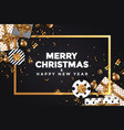 holiday new year card - 2018 black and gold 5 vector image vector image