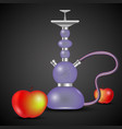 hookah and apple vector image vector image