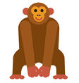 icon chimpanzee monkey vector image vector image