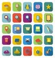 Internet color icons with long shadow vector image vector image