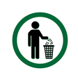 Keep clean icon do not litter sign vector image