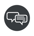 Monochrome round chatting icon vector image vector image