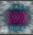 neon black friday vector image vector image