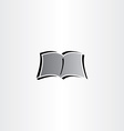 newspaper book reading logo icon vector image vector image