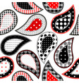 paisley in patchwork style vector image vector image
