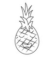 pinapple happy bliss fruit kawaii icon image vector image vector image
