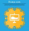 Presentation billboard Floral flat design on a vector image