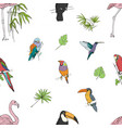 realistic hand drawn colorful seamless pattern vector image vector image