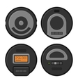 Robotic Vacuum Cleaner Icons Set vector image vector image