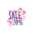 sale 20 percent off logo template special offer vector image vector image