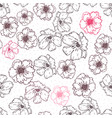 seamless floral texture with poppies vector image